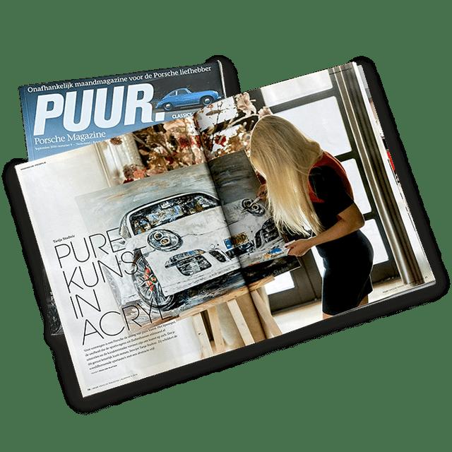 Tanja Stadnic publication Porsche magazine Puur