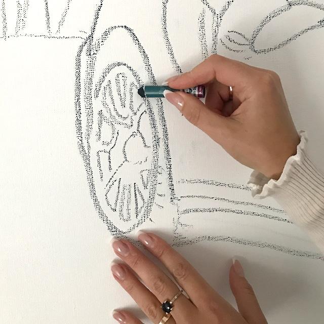 Tanja Stadnic Porsche Acrylic Art sketching