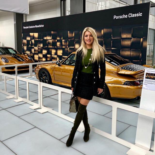 Tanja Stadnic visiting Porsche museum