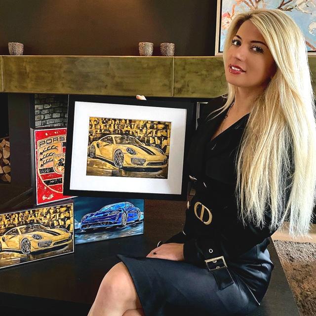 Tanja Stadnic gift repro painting presentation